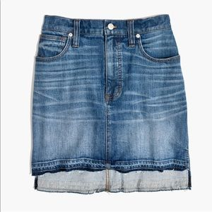 High-Waisted Denim Mini Skirt